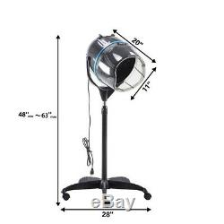 1000W Stand Up Bonnet Hair Dryer Professional Salon Bonnet Rolling Base Salon BK