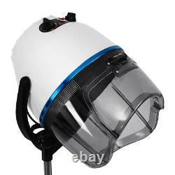 1200W Professional Hair Dryer Hood 0-75 Portable Salon Hairdresser Floor White