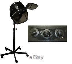 1200 Watt Professional Bonnet Hooded Hair Dryer on Wheels Beauty Salon Equipment