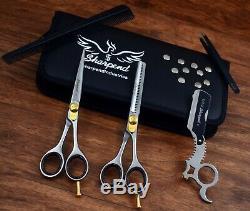 36 Inch Professional Hair Cutting Scissors Thinner Razor Set Kit Barber Salon