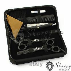 6.5 Left Hand Set Pro Salon Hairdressing Hair Cutting Thinning Barber Scissors