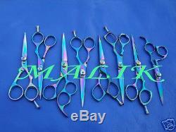 8 Professional Barber Hair Salon Cutting Scissors Razor