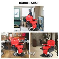 Adjustable Leather Top-grade Professional Limousine Barber Salon Chair Hair Red