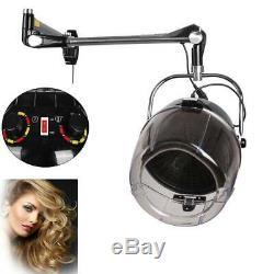 Beauty Professional Adjustable Wall Mount Hood Floor Hair Bonnet Dryer Salon Set