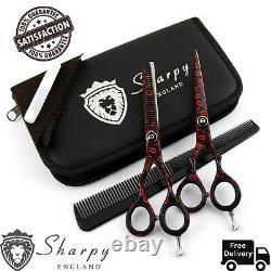 Black Barber Hair Cutting Scissors Shears Hairdressing Thinning Salon 5.5 Pro