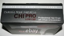 CHI Classic Red Metallic Professional Salon Hair Dryer /Blow Dryer NEW