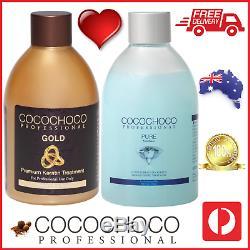 COCOCHOCO Pro GOLD + PURE Brazil Keratin Straight Hair Salon Treatment 250ml
