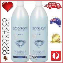 COCOCHOCO Pro PURE Brazil Keratin Hair Salon Treatment 2 x 1000ml FREE POST