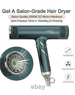 FASIZ Professional Ionic Salon Hair Blow Dryer Retails $189 Lightweight Fast Dry