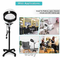 Hooded Hair Steamer Rolling Floor Standing Professional Beauty Salon Equipment
