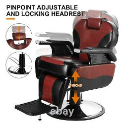 Hydraulic Recline Heavy Duty Barber Chair Salon Beauty Spa Tattoo Professional