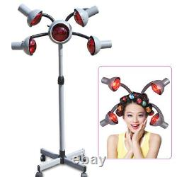 Infrared Hair Color Processor Red Light Dryer Professional Hair Salon with 5 Heads