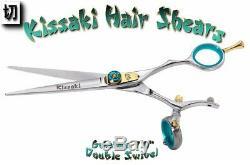 Kissaki Pro 7.0 Gokatana SLV B DOUBLE SWIVEL Hair Cutting Scissors Salon Shears