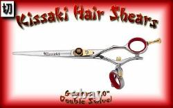 Kissaki Pro 7.0 Gokatana SLV R DOUBLE SWIVEL Hair Cutting Scissors Salon Shears