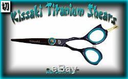 Kissaki Pro Sensuki 5.0 Black Blue Hair Cutting Scissors Salon Barber Shears