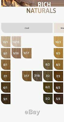 NEW Wella Professional Permanent Hair Color Levels 2-12 SALON OPENER 70 tubes