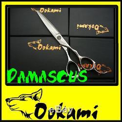 Ookami 6 Pro Hairdressing Scissors Hair Shears Salon D-60 Damascus Steel