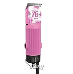Oster Classic 76 Hair Clipper Professional Pro Salon Pink Bubble Gum NEW