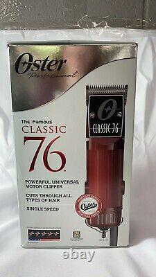Oster Classic 76 Professional Hair Clipper 76076-010 Barber Salon Haircut NOB