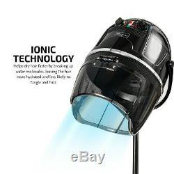 Ovente Professional Salon Hair Dryer Stand 1000W Ionic Technology Black HDS112B