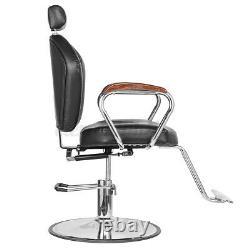 Pro Hydraulic Reclining Barber Chair Styling Salon Spa Shampoo Beauty Equipment