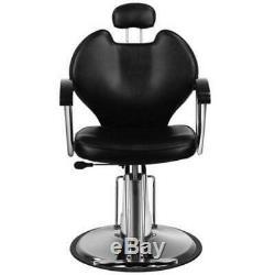 Pro Reclining Hydraulic Salon Hair Cutting Chair Barber Equipment Facial SPA