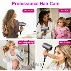 Professional 2000W Hair Blow Dryer Blower Salon Gray/Pink/Red/White 2 SpeedLC793