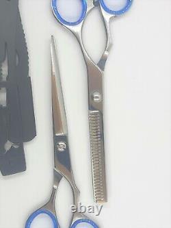 Professional Barber Hair Cutting Thinning Scissors Shears Set Hairdressing Salon