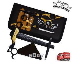 Professional Barber Hairdressing Scissors Hair Cut Scissors Salon Gold & BL 6.5