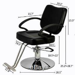 Professional Classic Hydraulic Barber Chair Salon Beauty Spa Hair Styling Black