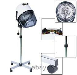 Professional Hair Dryer Hood Portable Salon Hairdresser Floor New Stand white