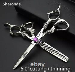 Professional Hair Scissors Set Salon Barber Haircut Shears Japan Steel 6 inch
