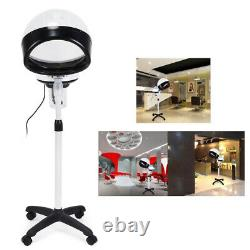Professional Hair Steamer Rolling Stand+Swivel Stool Chair Salon Spa Equipment