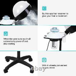 Professional Hair Steamer Salon Hooded Floor Hair Bonnet Dryer Stand Rolling