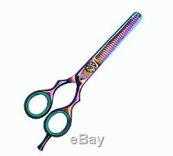 Professional Hairdressing Barber Salon Hair Titanium Coated Scissors shears 5.5