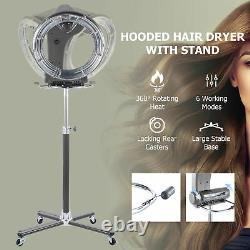 Professional Orbiting Salon Hair Dryer Adjustable Height for Blowouts Perms Dyes