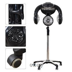 Professional Salon Hair dryer Rolling Stand Base Beauty Hood Color Processor