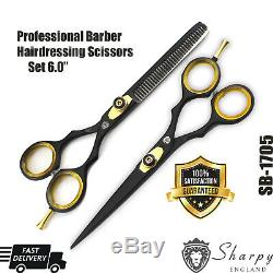 Professional Salon Hairdressing Hair Cutting Thinning Barber Scissors Kit 6.0