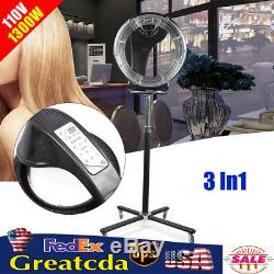 Professional Salon Infrared Stand-up Hair Dryer Styling with Heating Timer 1300W