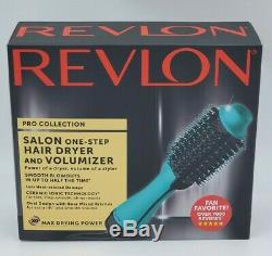 Revlon PRO Collection Salon One Step Hair Dryer and Volumizer Brush Teal- New