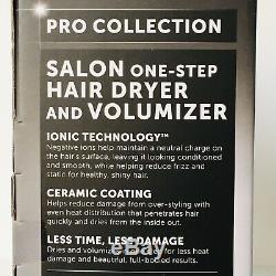 Revlon Pro Collection Salon One Step Hair Dryer & Volumizer Brush Black/Pink NEW