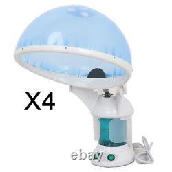 Set of 4 Pro 2in1 Hair Sauna Ozone hot Steam Facial Steamer Tabletop Mini Salon