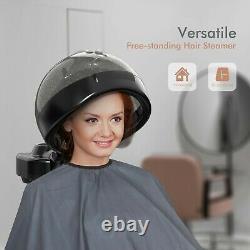 TASALON Professional Standing Rolling Hair Steamer Salon Hood Color Processor