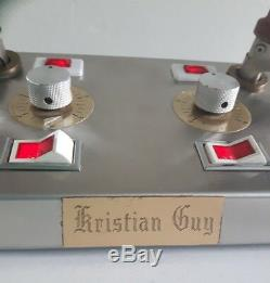 Vintage Zago Kristian Guy Professional Salon Double Hair Curling Iron 80s
