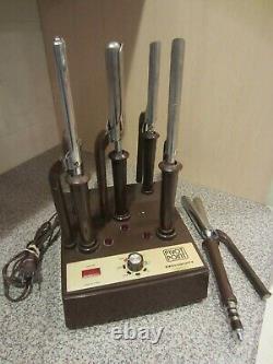 Vtg Pivot Point Exclusivity 6 Curling Iron Station Professional Hair Salon P105