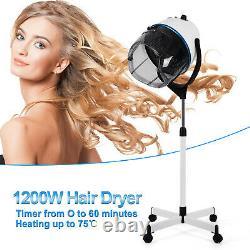 1200w 110v-120v Sèche-cheveux Professionnel Hotte Salon Portable Coiffeur Plancher