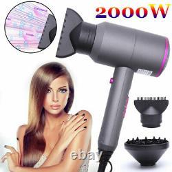 2000w Hair Dryer Salon Professionnel Dryer Hot Cold Wind Blue Ion Dty Blower L527