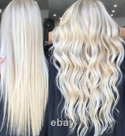 24 Cheveux Blonds Armure Trame Rapunzels Couleur La Plus Claire Blond 60 Salon De Coiffure Pro