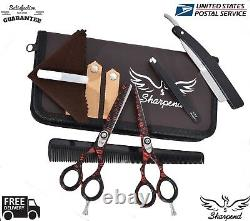 5.5 Ciseaux De Coupe De Cheveux Professionnels Ciseaux Cisailleurs Salon De Coiffure