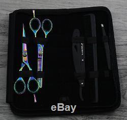 5.5 Pouces Salon Professionnel Ciseaux De Coiffure Ciseaux De Coupe De Cheveux Diluant Set Kit